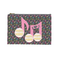 Music Large Cosmetic Bag #2 By Joy Johns   Cosmetic Bag (large)   Fx0pppt8s62a   Www Artscow Com Front