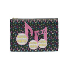 Music Medium Cosmetic Bag By Joy Johns   Cosmetic Bag (medium)   Ah2gg93n4wcz   Www Artscow Com Front