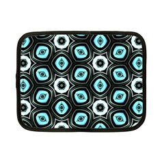 Pale Blue Elegant Retro Netbook Sleeve (small) by Colorfulart23