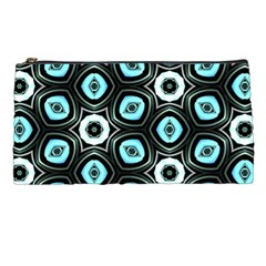 Pale Blue Elegant Retro Pencil Case by Colorfulart23