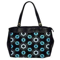 Pale Blue Elegant Retro Oversize Office Handbag (one Side) by Colorfulart23