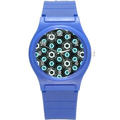 Pale Blue Elegant Retro Plastic Sport Watch (small) by Colorfulart23