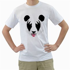 Kiss Of A Panda Men s T Shirt (white)  by Contest1887265
