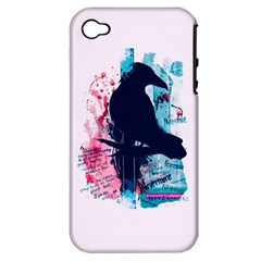 Qouth The Raven   Answer Your Phone  Apple Iphone 4/4s Hardshell Case (pc+silicone) by TheTalkingDead