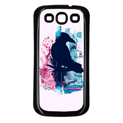 Qouth The Raven   Answer Your Phone  Samsung Galaxy S3 Back Case (black) by TheTalkingDead