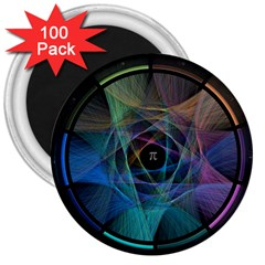 Pi Visualized 3  Button Magnet (100 pack)