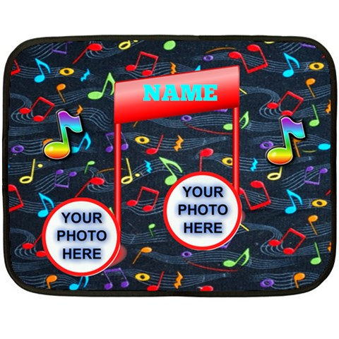 Mini Music Blanket By Joy Johns   Fleece Blanket (mini)   5opk5zhyn3yn   Www Artscow Com 35 x27 Blanket