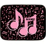 music mini blanket, 2sides - Double Sided Fleece Blanket (Mini)