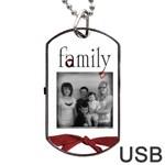 Family 2side USB - Dog Tag USB Flash (Two Sides)