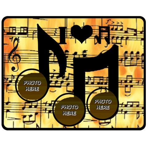Music Medium Music Blanket #4 By Joy Johns   Fleece Blanket (medium)   Z16ma1aeqdt5   Www Artscow Com 60 x50 Blanket Front