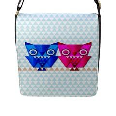 Owligami Flap Closure Messenger Bag (large) by doodlelabel