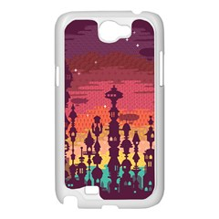 Meet me after sunset Samsung Galaxy Note 2 Case (White) by Contest1888822