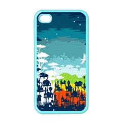 Rainforest City Apple Iphone 4 Case (color) by Contest1888822