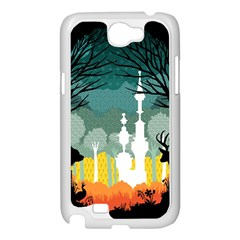 A Discovery in the Forest Samsung Galaxy Note 2 Case (White) by Contest1888822