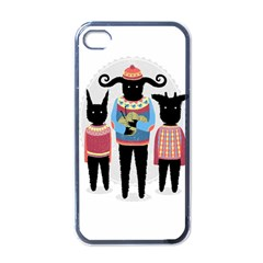 Nightmare Knitting Party Apple iPhone 4 Case (Black) by Contest1888822