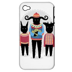 Nightmare Knitting Party Apple Iphone 4/4s Hardshell Case (pc+silicone) by Contest1888822