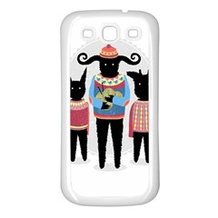 Nightmare Knitting Party Samsung Galaxy S3 Back Case (white) by Contest1888822