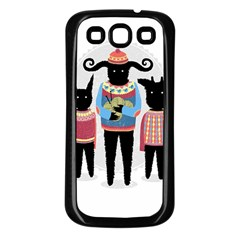 Nightmare Knitting Party Samsung Galaxy S3 Back Case (black) by Contest1888822