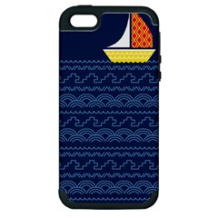 Sail The Seven Seas Apple Iphone 5 Hardshell Case (pc+silicone) by Contest1888822