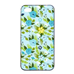 Flower Bucket Apple iPhone 4/4s Seamless Case (Black) by Contest1888822