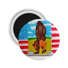 Big Foot,bison U,s,a, Flag 2 25  Button Magnet by creationtruth