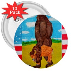 Big Foot,bison U,s,a, Flag 3  Button (10 Pack) by creationtruth