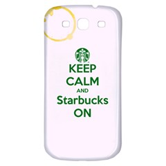 Keep Calm And Starbucks Samsung Galaxy S3 S Iii Classic Hardshell Back Case by TheTalkingDead