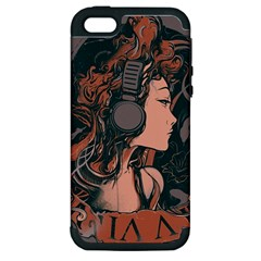 Medussa Turns To Rock Apple Iphone 5 Hardshell Case (pc+silicone) by Contest1889625