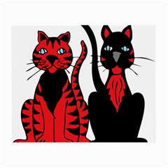 Cool Cats Glasses Cloth (Small) by StuffOrSomething