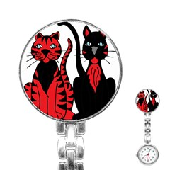 Cool Cats Stainless Steel Nurses Watch by StuffOrSomething