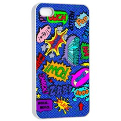 Bubbles Apple iPhone 4/4s Seamless Case (White) by Contest1721280