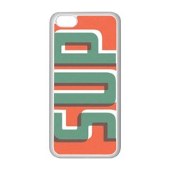 SUP  Apple iPhone 5C Seamless Case (White) by Contest1888309
