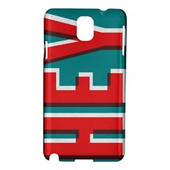Hey Samsung Galaxy Note 3 N9005 Hardshell Case by Contest1888309