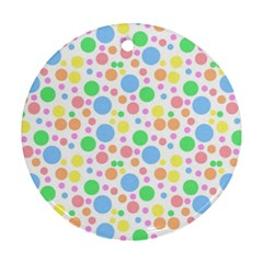 Pastel Bubbles Round Ornament by StuffOrSomething