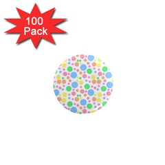 Pastel Bubbles 1  Mini Button Magnet (100 Pack) by StuffOrSomething
