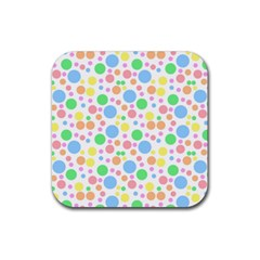 Pastel Bubbles Drink Coaster (square) by StuffOrSomething