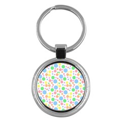 Pastel Bubbles Key Chain (round) by StuffOrSomething