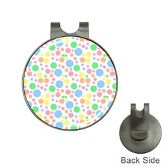 Pastel Bubbles Hat Clip with Golf Ball Marker