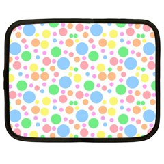 Pastel Bubbles Netbook Sleeve (xl) by StuffOrSomething