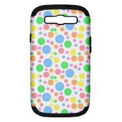 Pastel Bubbles Samsung Galaxy S Iii Hardshell Case (pc+silicone) by StuffOrSomething