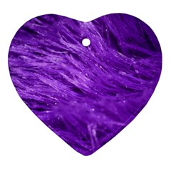 Purple Tresses Heart Ornament by FunWithFibro