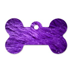 Purple Tresses Dog Tag Bone (two Sided) by FunWithFibro