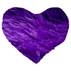 Purple Tresses 19  Premium Heart Shape Cushion by FunWithFibro