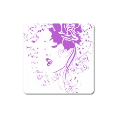 Purple Woman Of Chronic Pain Magnet (square) by FunWithFibro