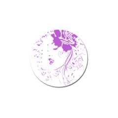 Purple Woman Of Chronic Pain Golf Ball Marker 10 Pack by FunWithFibro