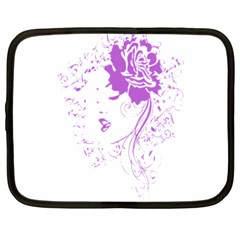 Purple Woman Of Chronic Pain Netbook Sleeve (xxl) by FunWithFibro