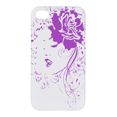 Purple Woman Of Chronic Pain Apple Iphone 4/4s Premium Hardshell Case by FunWithFibro