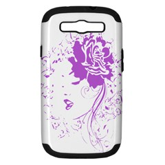 Purple Woman Of Chronic Pain Samsung Galaxy S Iii Hardshell Case (pc+silicone) by FunWithFibro