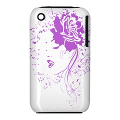 Purple Woman of Chronic Pain Apple iPhone 3G/3GS Hardshell Case (PC+Silicone)