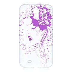 Purple Woman Of Chronic Pain Samsung Galaxy S4 I9500/i9505 Hardshell Case by FunWithFibro